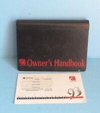 93 1993 Saturn owners manual