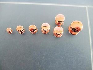 Rapid Rivets Rose Gold Double Cap  5mm, 6mm, 7mm, 8mm, 9mm, 10mm, 12mm available