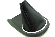 Fits 03-08 Hyundai Tiburon  Synthetic Leather Manual Shift Boot Blue Stitch