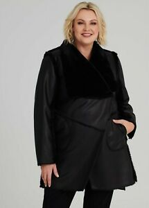 ts Taking Shape Coat Reversible Size L Black Oslo style  NWT RRP $299