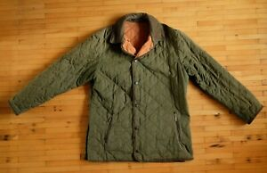 Barbour D598 Brown collar Quilt Jacket Heavy quilt jacket in Forest Green Size M