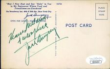 Jack Dempsey Boxer Signed Restaurant Postcard JSA Authenticated