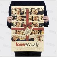2019 love actually / nostalgic retro / classic film kraft paper poster