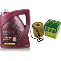 Inspektionspaket 5L MANNOL Combi-LL 5W-30 Motoröl + MANN Filterset 10148881