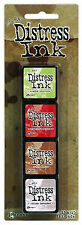Tim Holtz - Distress Mini Ink Kit - Ranger 4 Dye Pads Acid Free Non Toxic Kit 11