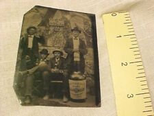 1898 Pabst Beer Brewing Milwaukee Giant Bottle Photo Tintype.Pre Prohibition