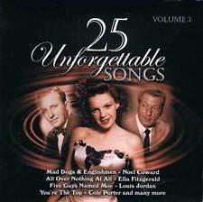 25 Unforgettable Songs Volume 3. CD