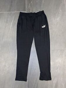 Women's PUMA Essential Drapy Pants In Puma Black Size UK Small