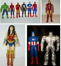 "10 DC Comics Marvel Superhero Marvel Spiderman, Hulk, Iron Man, Venom, Black 12"""