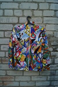 Rare Santini Vintage Cycling jacket vest set sms Full Zip 1980 women size L