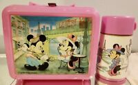 Vintage Disney Mickey and Minnie Paris Aladdin Lunchbox and Thermos