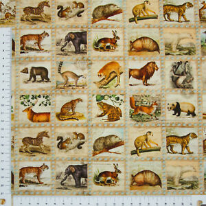 Afrikanische Tiere  Robert Kaufman Patchwork BW (3131)