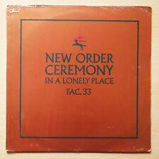 "NEW ORDER Ceremony LP 12"" Single 45 RPM Copper Metallic Sleeve FAC 33/12"