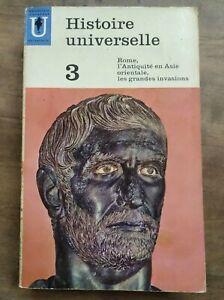 Histoire Universelle 3 - Rome : l'Antiquité en Asie orientale / Marabout, 1963