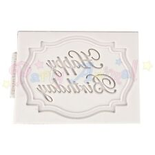Katy Sue Designs Mini Placa Molde - Happy Birthday - Calidad Silicona