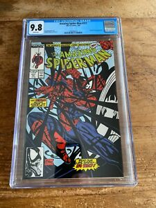 Amazing Spider-Man #317 Marvel 1989 CGC 9.8 White McFarlane Venom Cover App NM
