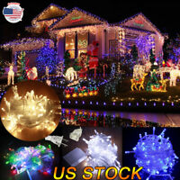 LED Waterproof Icicle String Lights  Connectable With Tail Plug Home Christmas