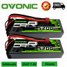 2Pcs 5200mAh  50C 7.4V 2S Lipo Battery Deans Plug Hardcase For RC Car Truck Boat