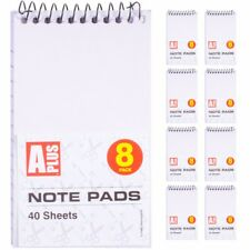 8x MINI NOTE PADS Small Pocket Spiral Notebook Ruled/Lined Paper Jotter Pad