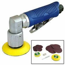 MINI DA DUAL ACTION ORBITAL AIR SANDER TOOL 70mm + 50mm SANDING PADS + 10 DISCS