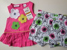 CUTE BABY GIRL TOP/DRESS + SHORTS SIZE 000 FITS 0-3m *NEW *GIFT