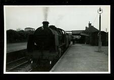 Wilts LUDGERSHALL Railway Station Engine 31620 train from Cheltenham 1959 RP
