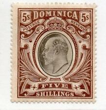 Dominica EDVII 5s MM 1908 SG46 Cat £75