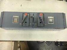 """FEDERAL PACIFIC QMQB-3336 USED 3P 30A FUSED 600V TWIN PANEL SWITCH SHELF """"C"""""""