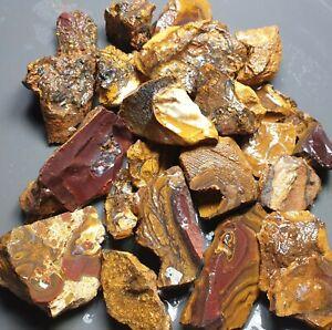 Boulder Opal Rough Parcel Yowah Matrix Solid Natural Lapidary Specimen 341 Grams