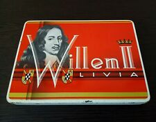 Vintage Tin Box Willem II Livia Cigars Box Metal Cigar Box