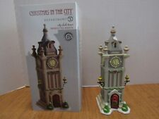 Dept 56 2011 Christmas In The City Clock Tower #4020176 Excellent