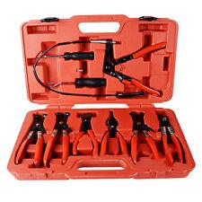 9pcs Wire Long Reach Hose Clamp Pliers Set Fuel Oil Water Hose Auto Tools SE