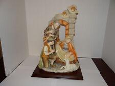 HEAVY Grandeur Noel 1 Piece Nativity Scene Collector's Edition Wood Base  One
