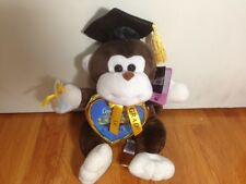 Graduation Monkey Plush Stuffed Animal with Cap DARK BROWN