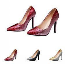 Sexy Women's Snakeskin Pattern Evening Party Pointy Toe Stilettos Heel Shoes D