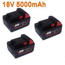 3x For Milwaukee 5.0AH 18V  M18 M18B4 48-11-1828 Red Lithium Ion XC 5.0 Battery