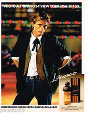 PUBLICITE ADVERTISING 085  1978  LORENZACCIO  eau de parfum ligne soir homme