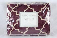 Essentials Collection Solid Microfiber Twin Sheet Set Purple Plum Z371