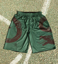 ollmaek men's baem the snake basketball shorts dark green black M L XL 2XL