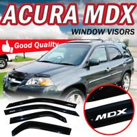 For 01-06 Acura MDX 4PC Window Visor Slim Stick on Sun Rain Deflector Shade Set