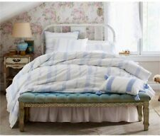 New Twin Simply Shabby Chic 2 Piece Embroidered Duvet Cover & Sham Set