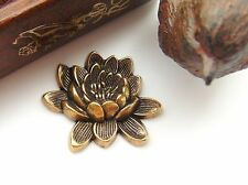 ANTIQUE BRASS Retro LOTUS FLOWER Stamping - Jewelry Finding (CA-3050)