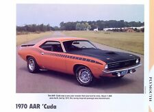 1970 Plymouth AAR Barracuda Cuda 340 ci six pack info/specs/photo 11x8