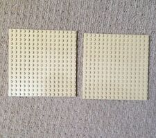2 x LEGO TAN  BASE PLATES 16x16 PIN  NEW