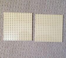 2 X LEGO Tan piastre di base 16x16 PIN NUOVO