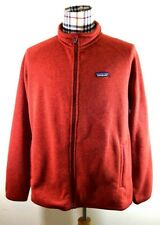 Patagonia XL Full Zip up Sweater Pullover Orange Polyester Relaxing Casual