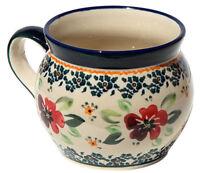 Polish Pottery Potbelly Coffee Mug 16 oz. from Zaklady Boleslawiec GU910/du116