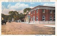 Norway Maine~National Bank on Main Street~Houses~1920s Postcard