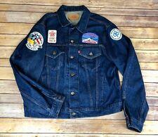 Vtg 70s Men's Levi's Traveler Souvenir 22 Patches Nasa Denim Jean Jacket Xl