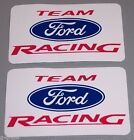 2 NEW FORD TEAM RACING 3 x 5 STICKERS! GREAT TOOLBOX DECALS! NASCAR NHRA! OEM